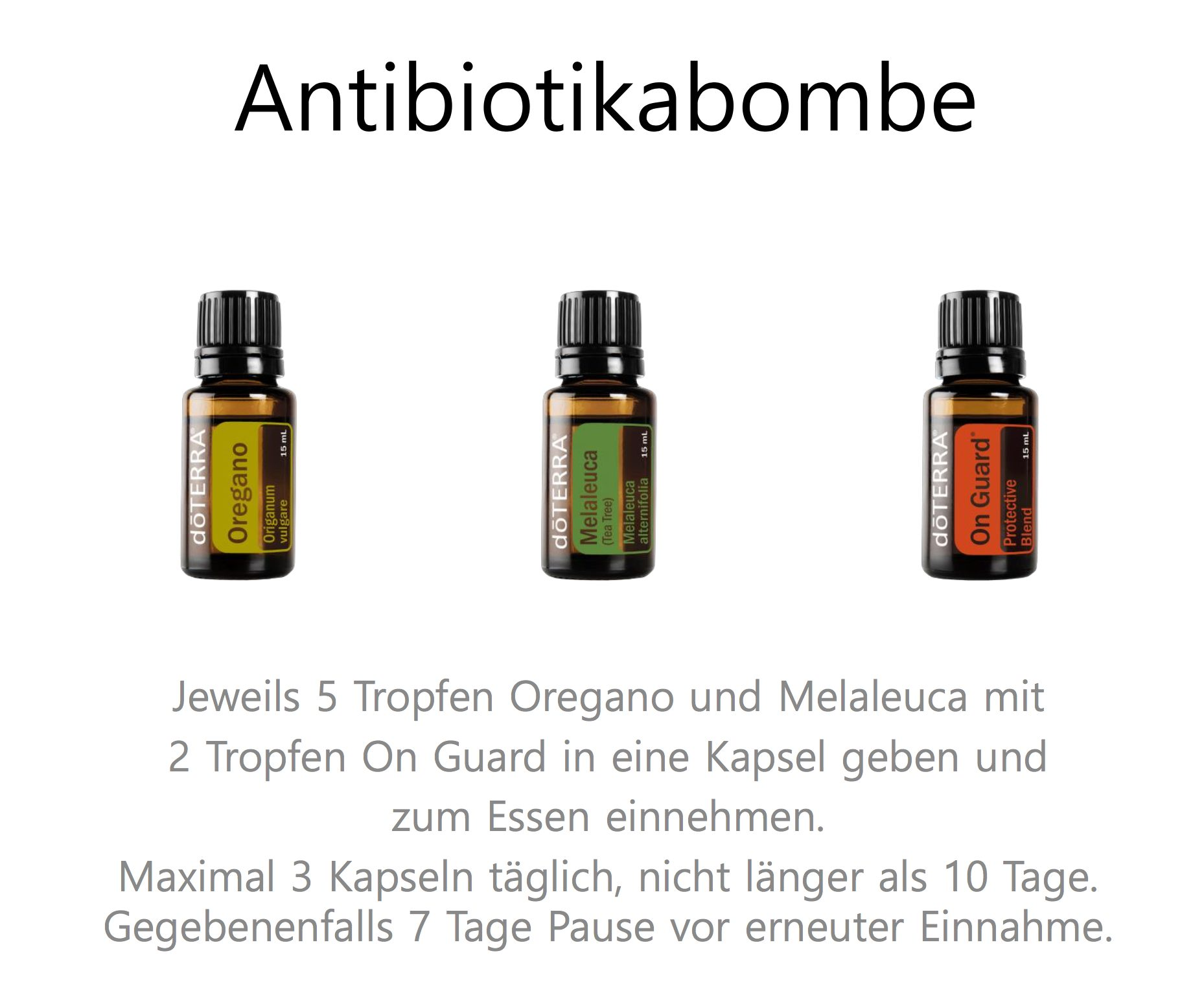 NAtürliches Antibiotika - diy aus ätherische Öle