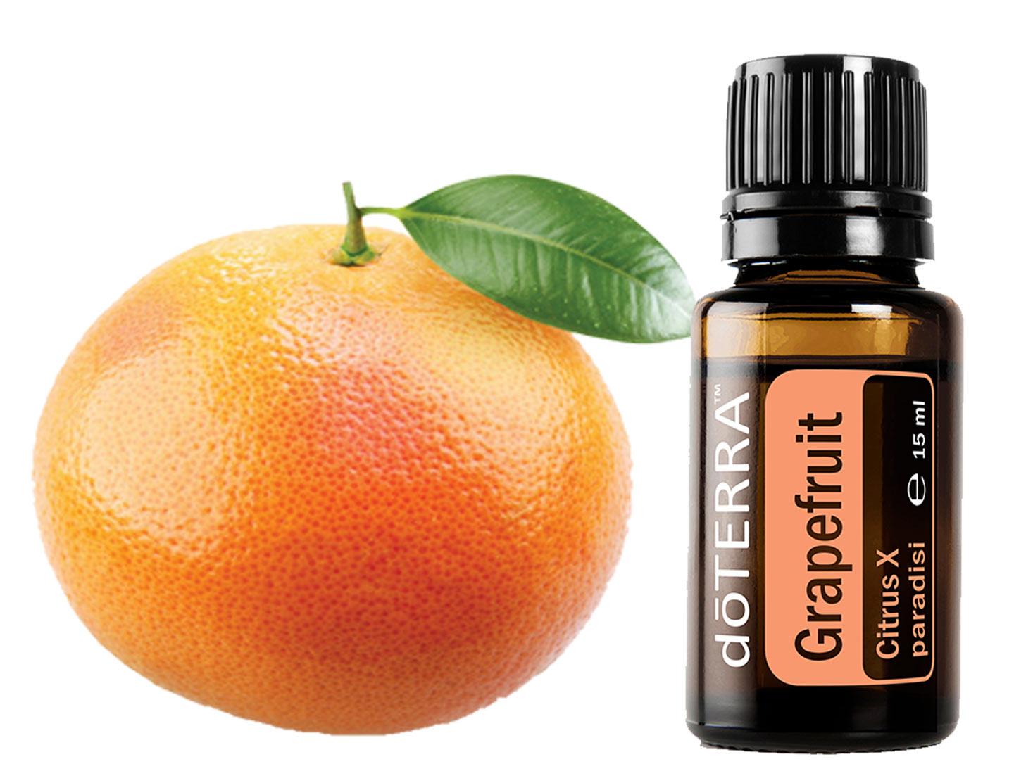 Grapefruit Öl tief einatmen